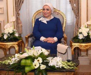 السيدة انتصار السيسي تهنئ الشعب المصرى والأمة الإسلامية بحلول عيد الفطر المبارك