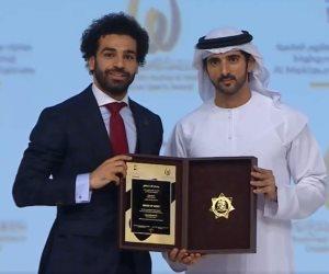 برفقة بن راشد وولي عهد دبي..شاهد الصور الأولى لمحمد صلاح في احتفالية الإبداع الرياضي