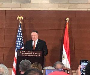 وزير الخارجية الأمريكي: تنسيق دائم بين الرئيس السيسي وترامب حول قضايا المنطقة