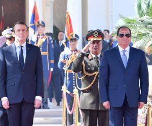 7 رسائل للعالم بعد زيارة الرئيس الفرنسي لمصر.. برلمانيون يعلقون