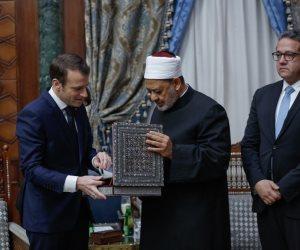 الإمام الأكبر للرئيس الفرنسي: السلام هو رسالة الأزهر لحماية الأرواح (فيديو وصور)