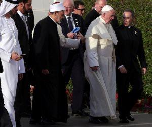 الإمام الأكبر وبابا الفاتيكان يزوران جامع الشيخ زايد في أبو ظبي