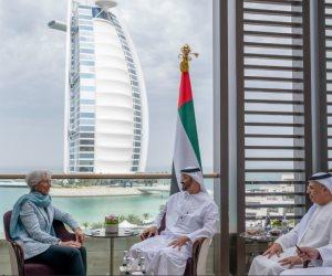 ماذا قال محمد بن زايد بعد استقباله القادة المشاركين بالقمة العالمية للحكومات؟