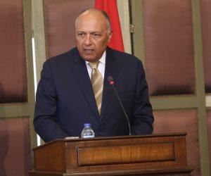 """وزير الخارجية يجري اتصالات دولية لمناقشة مبادرة """"إعلان القاهرة"""" لحل أزمة ليبيا"""