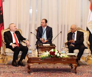 زيادة الاستثمارات.. عبدالعال لرئيس ألبانيا: مصر تعيش في أمن واستقرار (صور)