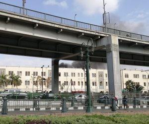 السكة الحديد تقرر إيقاف حركة القطارات بمحطة مصر بعد حريق فى رصيف 7