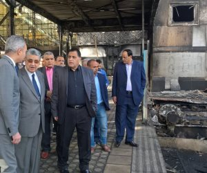 وزير النقل المكلف بتسيير الأعمال: لا تهاون مع مقصر.. ورفع معدل أمان السكة الحديد (صور)
