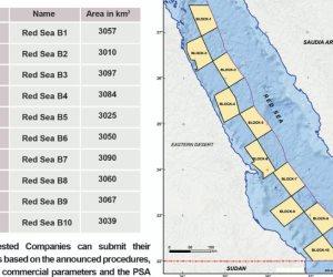 خريطة البترول لطرح مزايدة في البحر الأحمر بـ 10 قطاعات لأول مرة