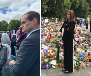 ماذا قالت رئيسة وزراء نيوزيلاندا لـ «نبيلة مكرم» في عزاء شهداء المسجدين؟