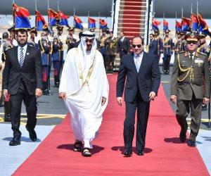 السيسي يستقبل ولي عهد أبو ظبي في برج العرب (صور وفيديو)