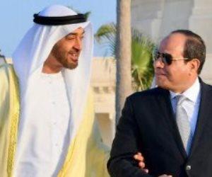 السيسي يصطحب محمد بن زايد فى جولة تفقدية بمدينة العلمين الجديدة