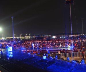 """حفل محمد رمضان.. دخول مثير و""""نمبر وان"""" تشعل المسرح"""