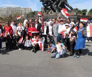 وقفة للمصريين أمام الكونجرس للترحيب بالسيسى ورفض المنظمات المشبوهة (فيديو وصور)