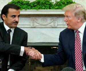 كشف حجمها الحقيقي.. ترامب لأمير قطر: شكراً على توسيع قاعدة المديد بأموالكم وليس أموالنا