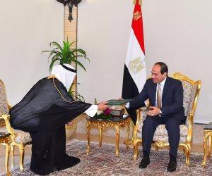 الرئيس السيسى يتسلم رسالة من خادم الحرمين تؤكد على متانة العلاقات التاريخية (صور)
