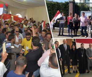 المصريون في لوس أنجلوس يصوتون على التعديلات الدستورية (صور)