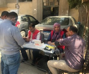 حملة 100 مليون صحة أمام مدرسة الحلمية بمنطقة زغلول بالهرم (صور)