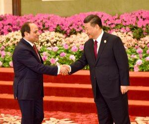 """السيسى يشارك في عشاء الرئيس الصيني لقادة """"الحزام والطريق"""" ببكين (صور)"""