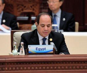 السيسى: مصر تنفذ مشروعا عملاقا لتنمية محور قناة السويس لتصبح مركزا عالميا