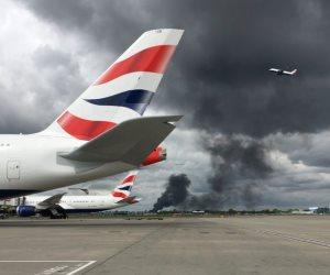 انفجار هائل بمحيط مطار هيثرو في لندن (فيديو)