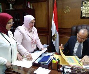 محافظ كفر الشيخ يعتمد نتيجة الإعدادية بنسبة نجاح 82.11% (صور)