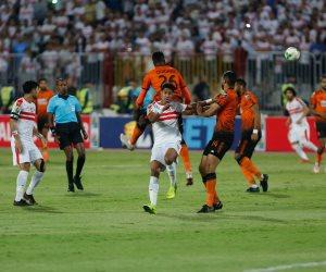 محمود علاء يحرز الهدف الأول للزمالك من ضربة جزاء