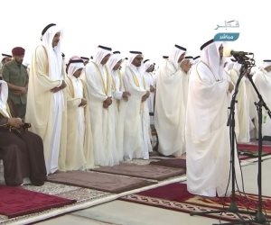 هم راحوا فين.. ظهور حمد بن جاسم في صلاة العيد على حساب مسؤولي قطر (فيديو)