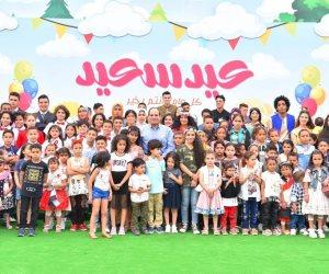 شاهد.. كيف احتفل الرئيس مع أُسر وأبناء الشهداء (صور)