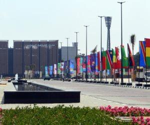 استاد القاهرة الدولي يتزين بالأعلام احتفاء بالأمم الأفريقية