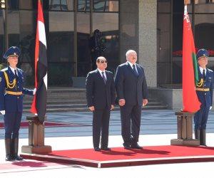 السيسى: اتفقنا مع رئيس بيلاروسيا على تعزيز البعد الثقافى والتعاون البرلمانى (صور)