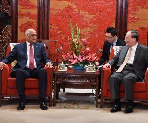 مكافحة الإرهاب ودعم القضية الفلسطينية.. ماذا قال «عبد العال» لنائب الرئيس الصيني (صور)