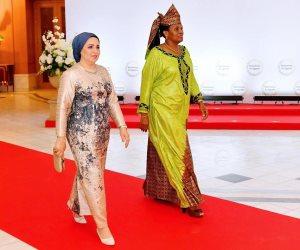 انتصار السيسي:  سعدت باستقبال سيدة بوروندي الأولى.. وفخورة بانطباعها عن تمكين المرأة بمصر