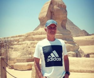 """مورينيو يزور الأهرامات قبل تحليل مباراة مصر وجنوب على تايم سبورتس """"صور"""""""