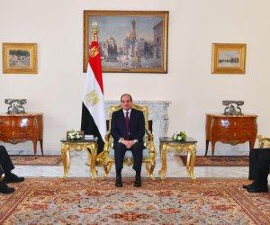 """رئيسا محكمة النقض والنيابة الإدارية يؤديان اليمين الدستورية أمام الرئيس السيسى """"فيديو"""""""