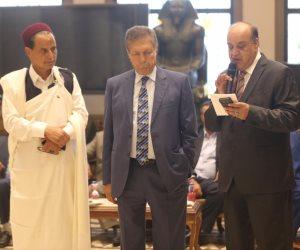"""النائب سعد الجمال لوفد النواب الليبي: """"أنتم الممثل الشرعي.. ومصر سند لكم ولدولتكم"""""""