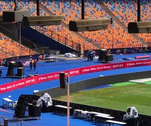 ستاد القاهرة يستعد لحفل ختام كأس أمم أفريقيا (صور)