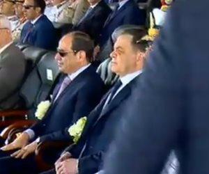 الرئيس السيسى يكرم أوائل كلية الشرطة دفعة 2019 بحفل تخرجهم
