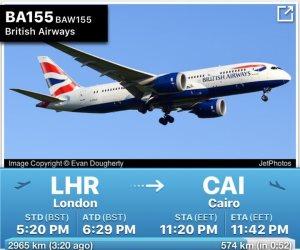 عودة الطيران البريطاني إلى القاهرة.. صورة لوصول أولى الرحلات
