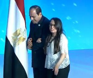 أم كلثوم تشعل مؤتمر الشباب السابع بالعاصمة الإدارية الجديدة.. والرئيس يعلق: نفسي اسمع صوتك (صور)