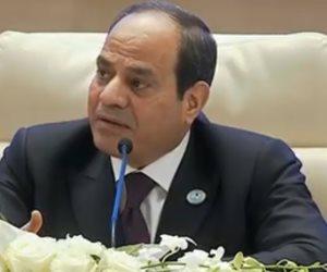 السيسى: مصر لن تسمح أبداً بالفساد والمفسدين