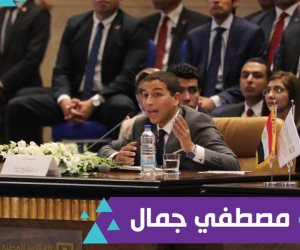 مصطفى جمال ممثل رئيس الوزراء بحكومة المحاكاة بمؤتمر الشباب: مصر بدأت مرحلة التطور 2014