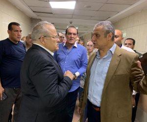 صور.. رئيس جامعة القاهرة يتفقد معهد الأورام..