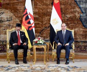 مباحثات بين السيسي وسلطان بروناى بـ«الاتحادية».. الرئيس: نتطلع لجذب مزيد من الاستثمارات البروناوية