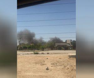 حريق في مدينة الإنتاج الإعلامي (صور)