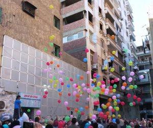 تنورة وبلالين وأجواء مبهجة.. عيد الأضحى في الزيتون (صور)