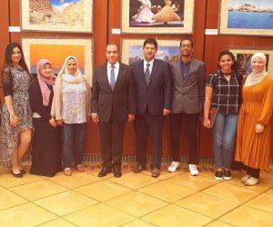 سفير مصر بألمانيا يلتقي مع عدد من طلبة الماجستير والدكتوراه المصريين في برلين
