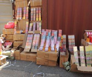 شرطة ميناء الأسكندرية تحبط تهريب 15 طن ألعاب نارية داخل حاوية قادمة من الخارج( صور)