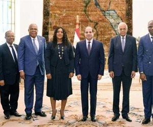 ماذا دار في لقاء الرئيس السيسي رئيسة الجمعية الوطنية التوجولية؟ (فيديو)