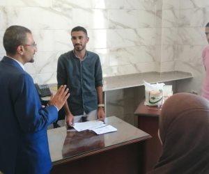 صحة شمال سيناء تبدأ تحليل فيروس سي للطلاب الجدد بجامعة العريش (صور)