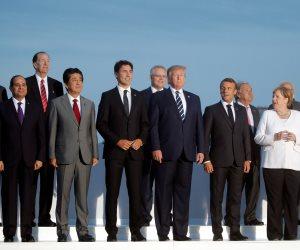 الرئيس السيسي يشارك بالصورة التذكارية لقادة مجموعة G7